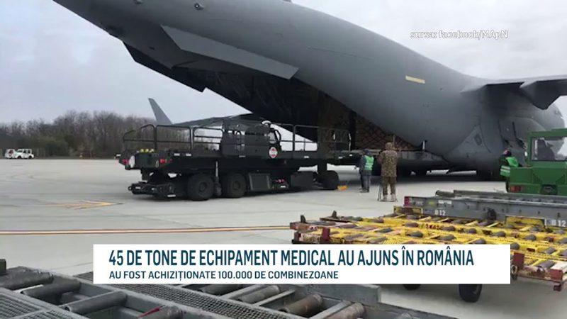 45 DE TONE DE ECHIPAMENT MEDICAL AU AJUNS ÎN ROMÂNIA