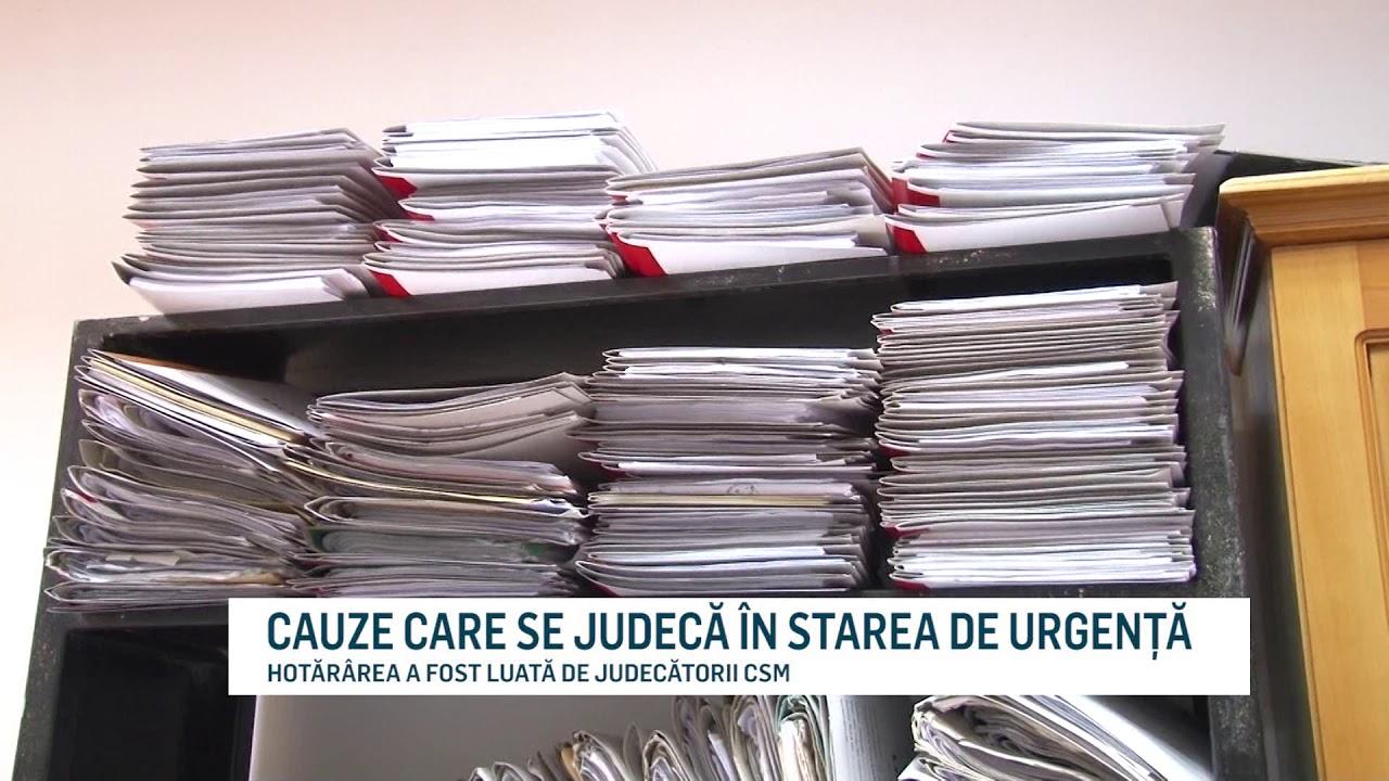 CAUZE CARE SE JUDECĂ ÎN STAREA DE URGENȚĂ