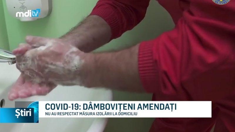 COVID-19: DÂMBOVIȚENI AMENDAȚI