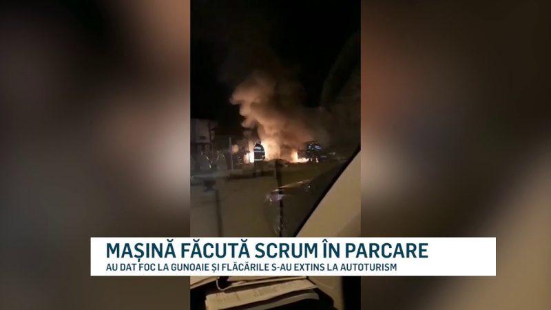 MAȘINĂ FĂCUTĂ SCRUM ÎN PARCARE