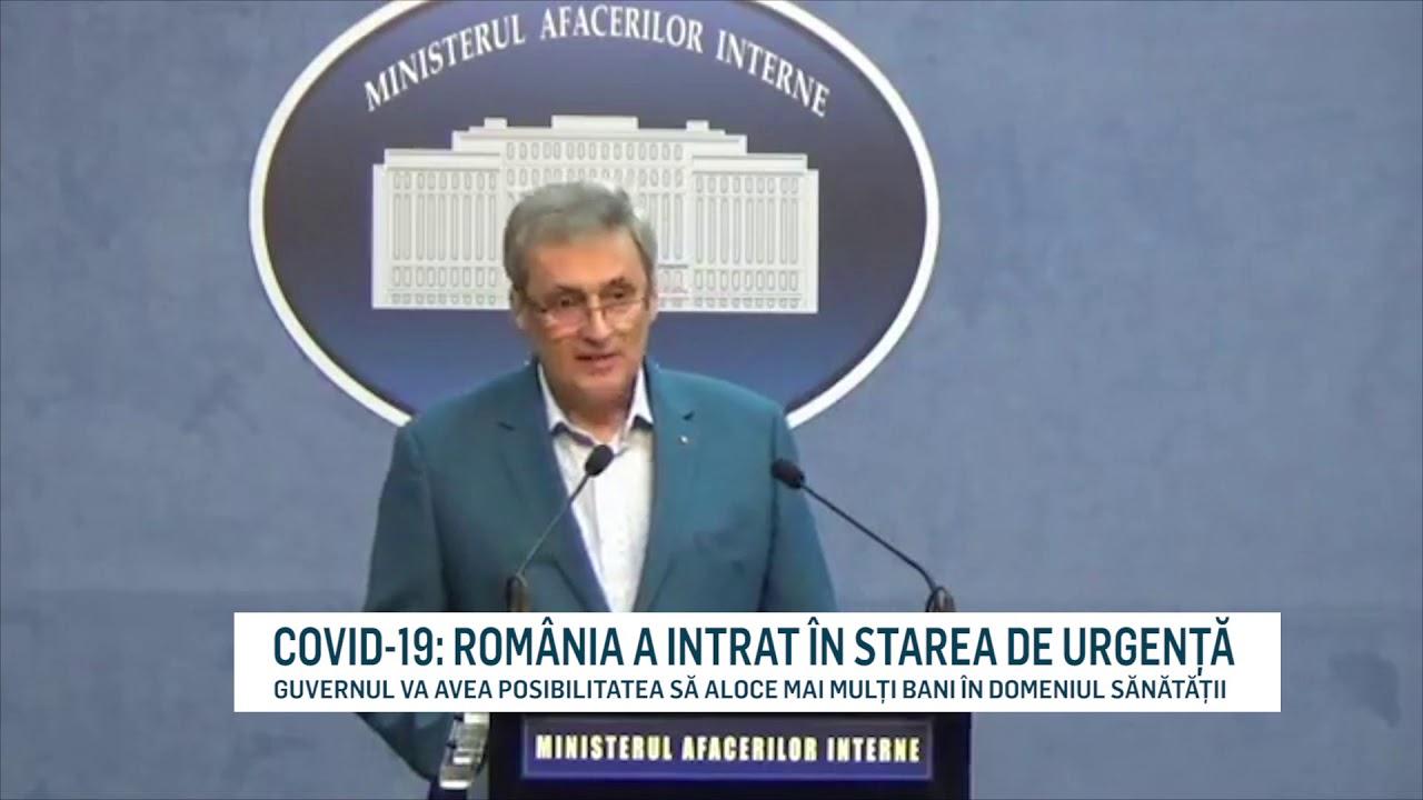 COVID-19: ROMÂNIA A INTRAT ÎN STAREA DE URGENȚĂ