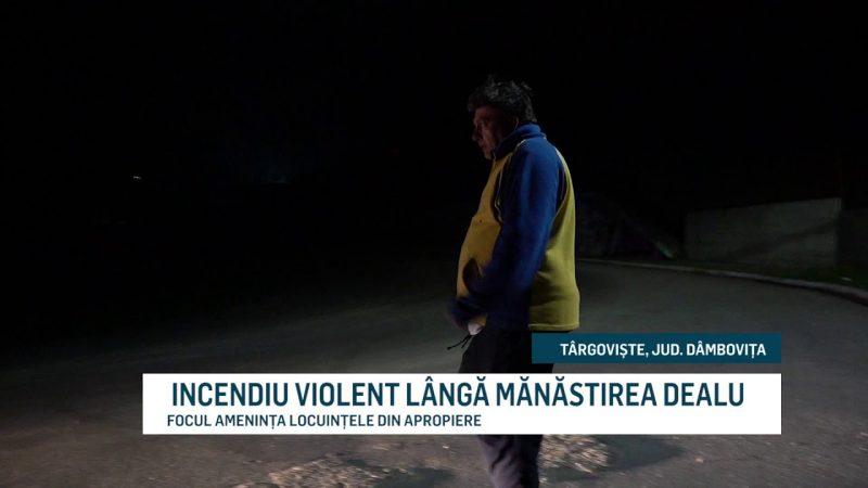 INCENDIU VIOLENT LÂNGĂ MĂNĂSTIREA DEALU