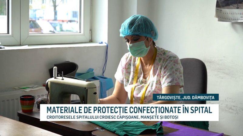 MATERIALE DE PROTECȚIE CONFECȚIONATE ÎN SPITAL