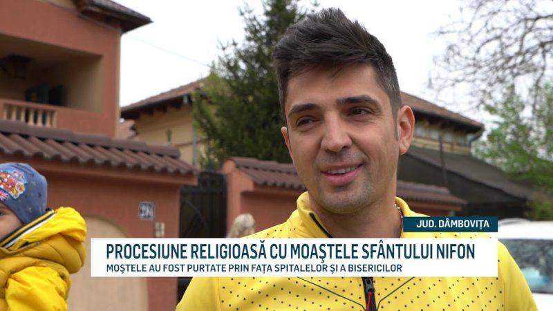 PROCESIUNE RELIGIOASĂ CU MOAŞTELE SFÂNTULUI NIFON