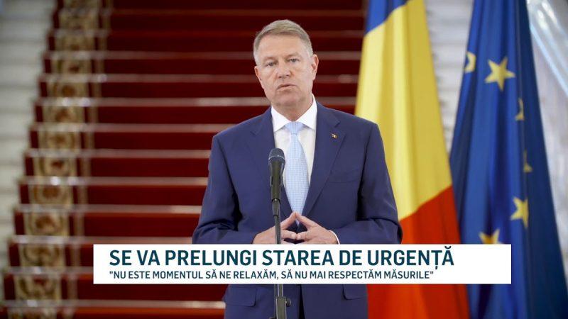 SE VA PRELUNGI STAREA DE URGENȚĂ