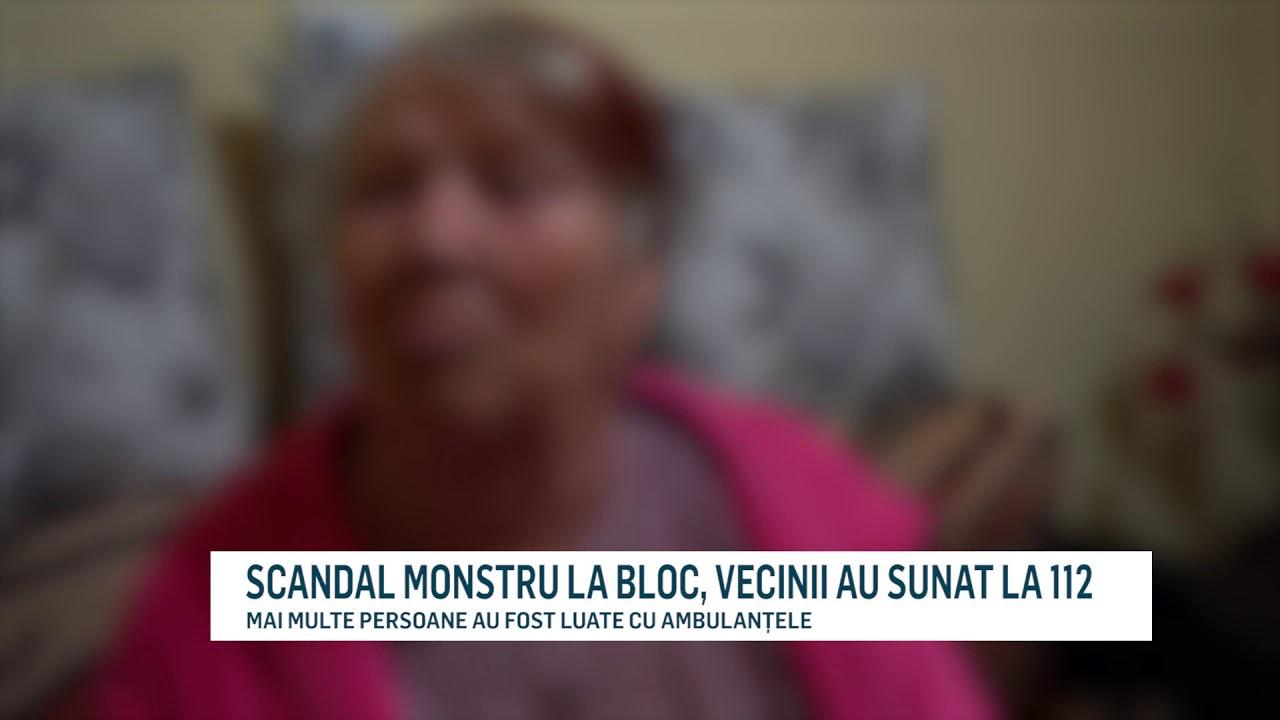 SCANDAL MONSTRU LA BLOC, VECINII AU SUNAT LA 112