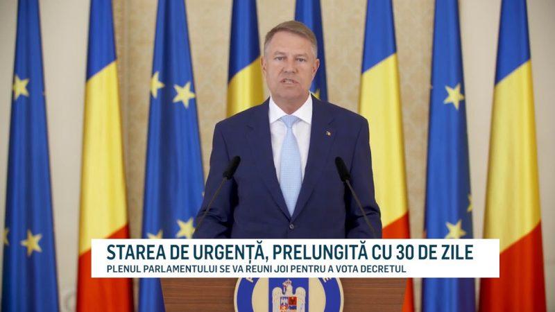 STAREA DE URGENȚĂ, PRELUNGITĂ CU 30 DE ZILE
