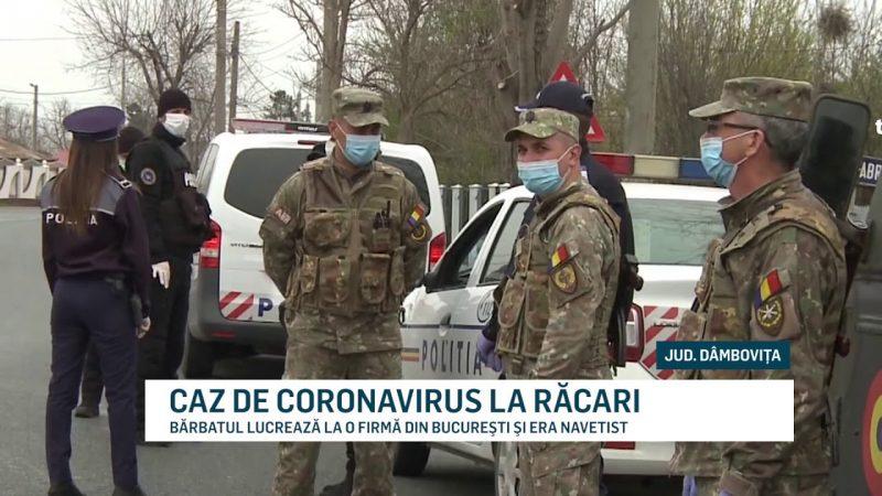 CAZ DE CORONAVIRUS LA RĂCARI