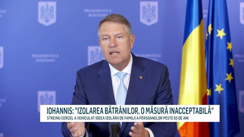 """IOHANNIS: """"IZOLAREA BĂTRÂNILOR, O MĂSURĂ INACCEPTABILĂ"""""""