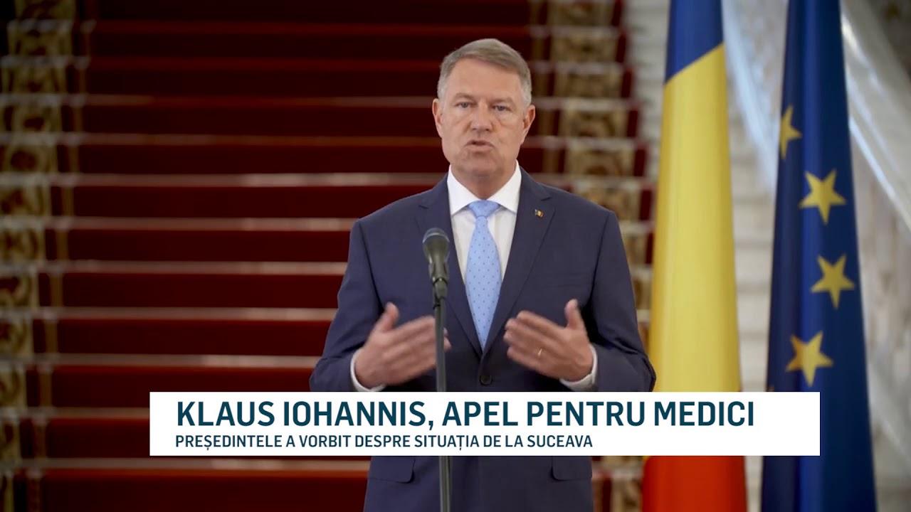 KLAUS IOHANNIS, APEL PENTRU MEDICI
