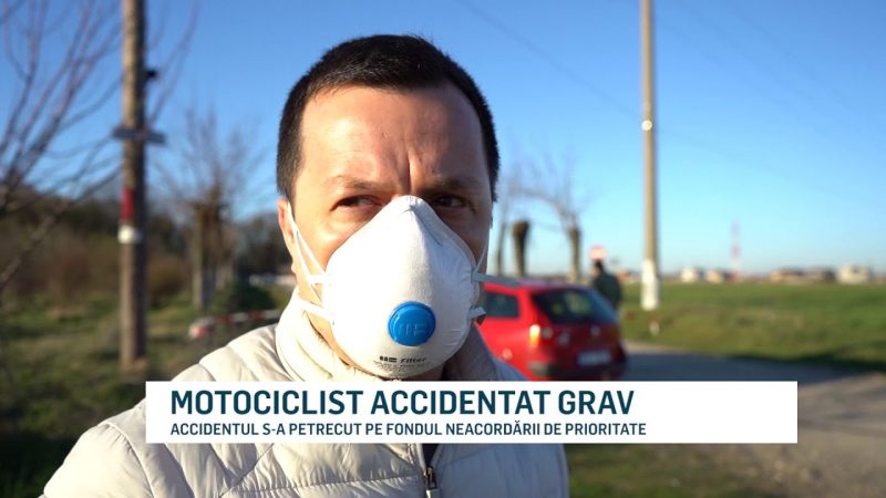 MOTOCICLIST ACCIDENTAT GRAV