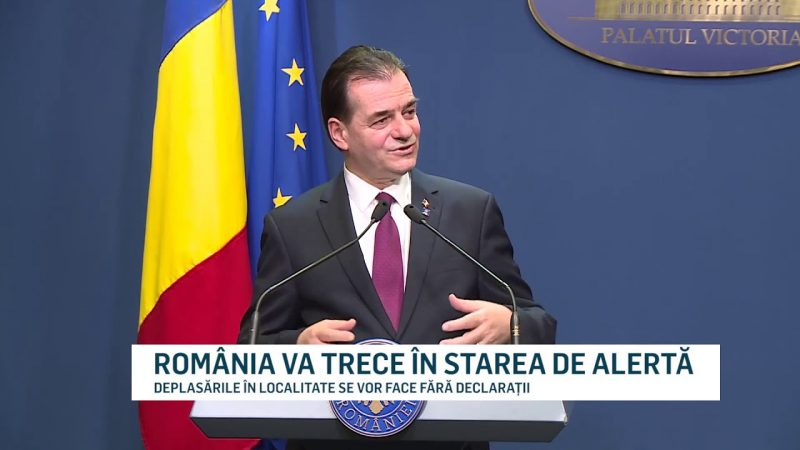 ROMÂNIA VA TRECE ÎN STAREA DE ALERTĂ