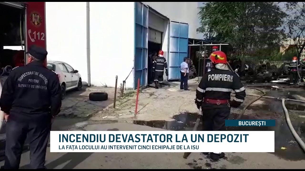 INCENDIU DEVASTATOR LA UN DEPOZIT
