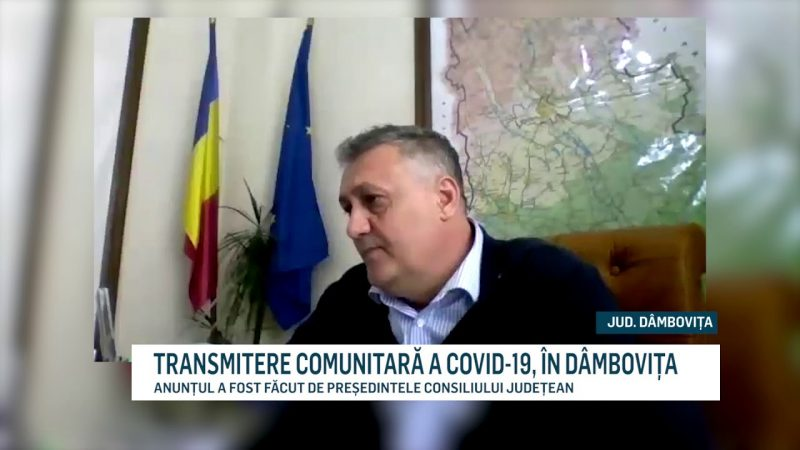 TRANSMITERE COMUNITARĂ A COVID-19, ÎN DÂMBOVIȚA