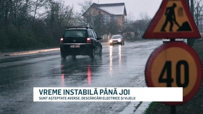 VREME INSTABILĂ PÂNĂ JOI