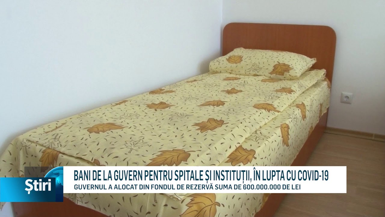 BANI DE LA GUVERN PENTRU SPITALE ȘI INSTITUȚII, ÎN LUPTA CU COVID-19