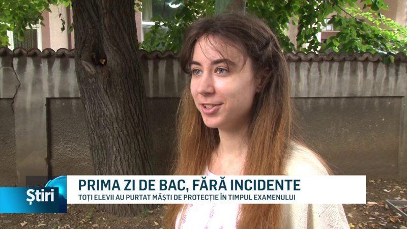 PRIMA ZI DE BAC, FĂRĂ INCIDENTE