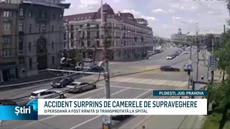ACCIDENT SURPRINS DE CAMERELE DE SUPRAVEGHERE