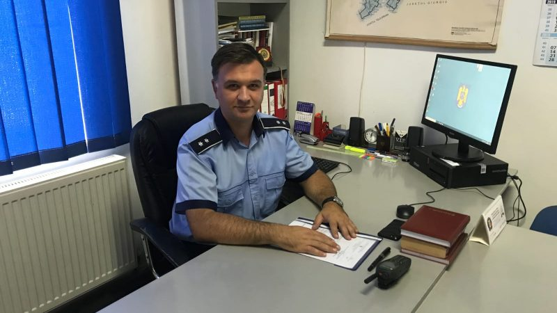 CMS ȘEF GABRIEL UȚĂ, NOUL COMANDANT AL POLIȚIEI RĂCARI