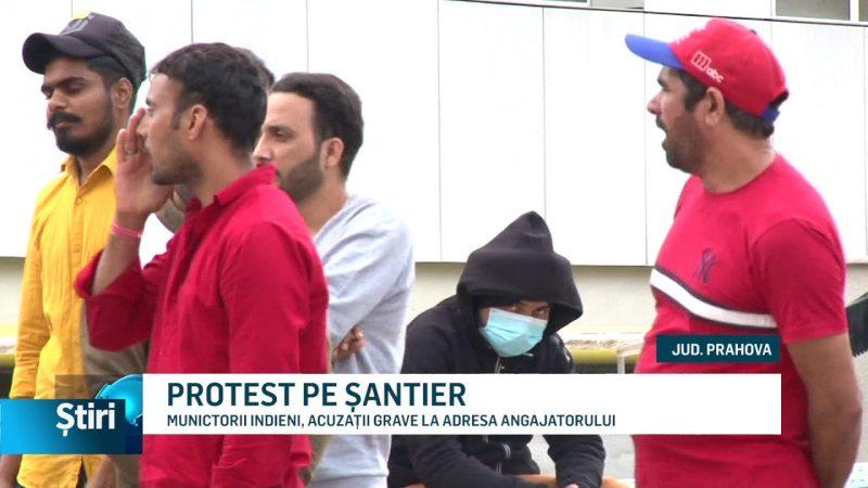 PROTEST PE ȘANTIER