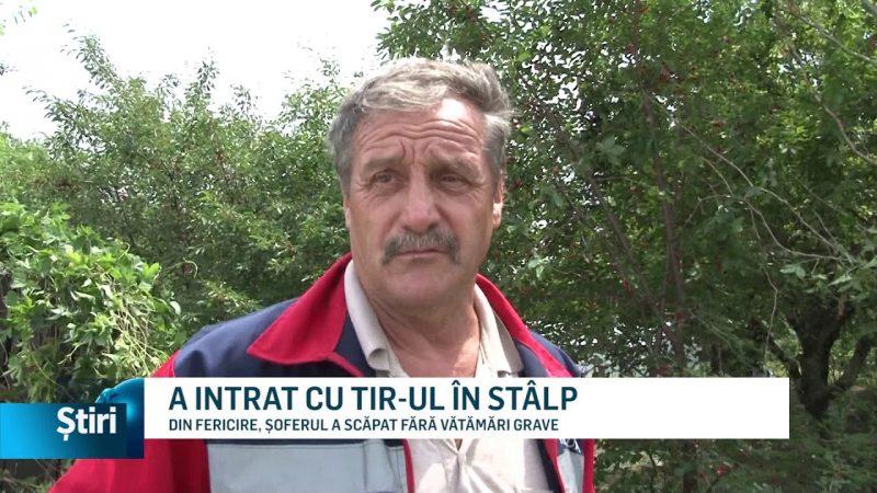 A INTRAT CU TIR-UL ÎN STÂLP