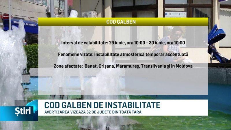 COD GALBEN DE INSTABILITATE