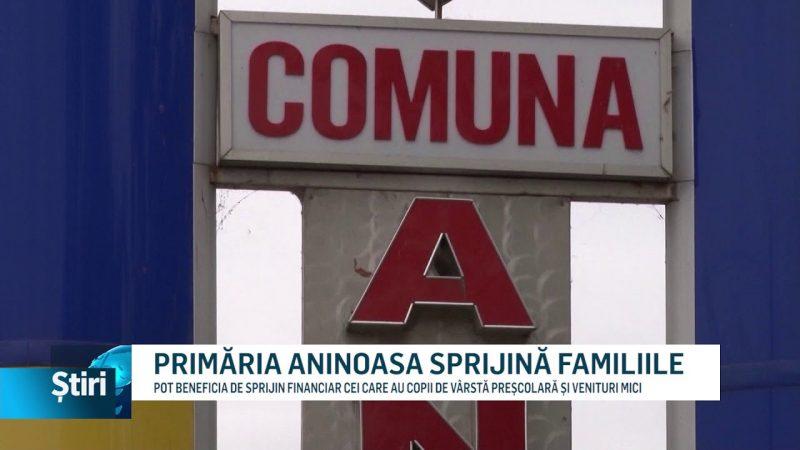 PRIMĂRIA ANINOASA SPRIJINĂ FAMILIILE