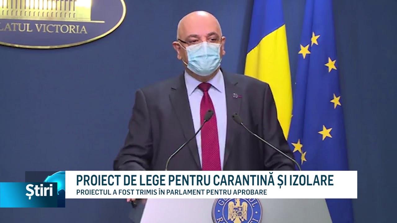 PROIECT DE LEGE PENTRU CARANTINĂ ȘI IZOLARE