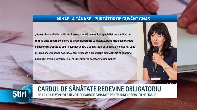 CARDUL DE SĂNĂTATE REDEVINE OBLIGATORIU
