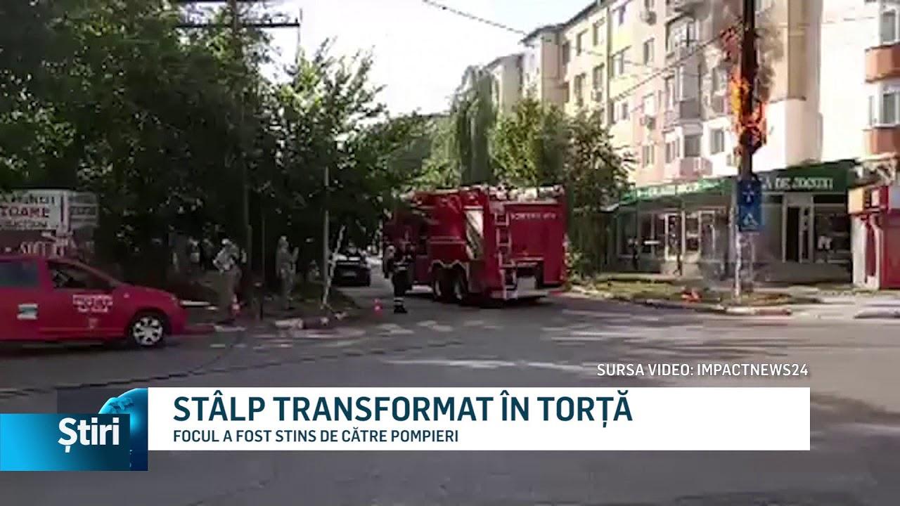 STÂLP TRANSFORMAT ÎN TORȚĂ