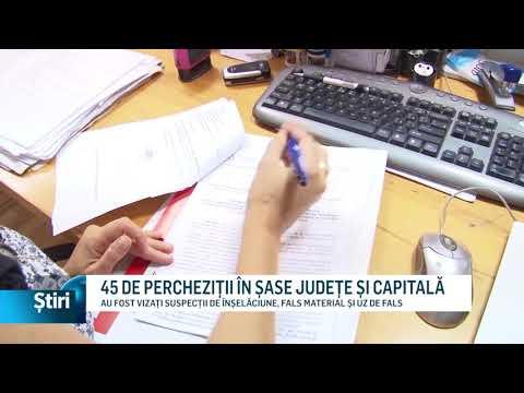 45 DE PERCHEZIȚII ÎN ȘASE JUDEȚE ȘI CAPITALĂ