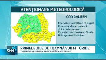 PRIMELE ZILE DE TOAMNĂ VOR FI TORIDE