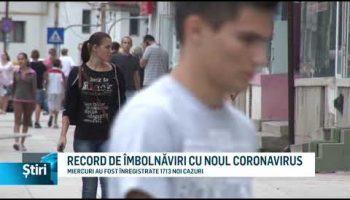 RECORD DE ÎMBOLNĂVIRI CU NOUL CORONAVIRUS