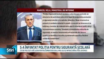 S-A ÎNFIINȚAT POLIȚIA PENTRU SIGURANȚĂ ȘCOLARĂ