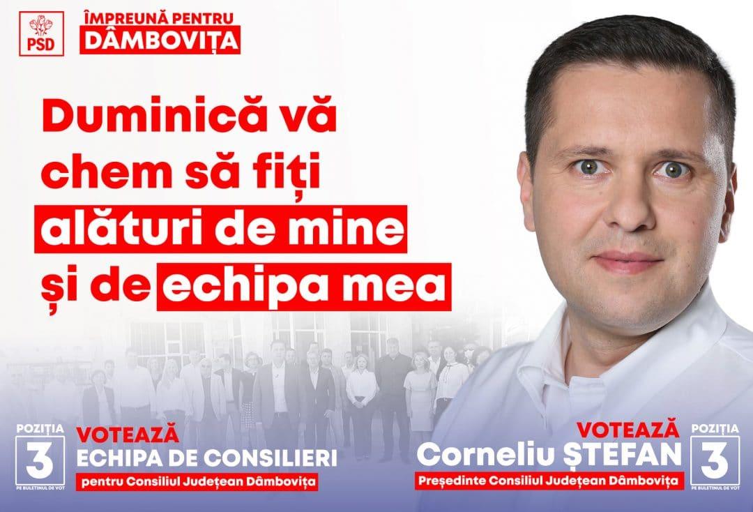 """CORNELIU ȘTEFAN: """"VĂ CHEM ALĂTURI DE MINE SĂ CÂȘTIGĂM BĂTĂLIA CU VIITORUL!"""""""