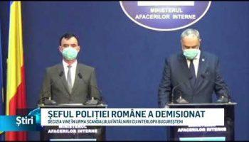 ŞEFUL POLIŢIEI ROMÂNE A DEMISIONAT