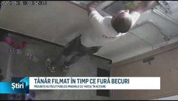 TÂNĂR FILMAT ÎN TIMP CE FURĂ BECURI