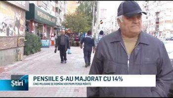 PENSIILE S-AU MAJORAT CU 14%