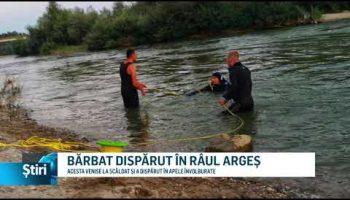 BĂRBAT DISPĂRUT ÎN RÂUL ARGEȘ